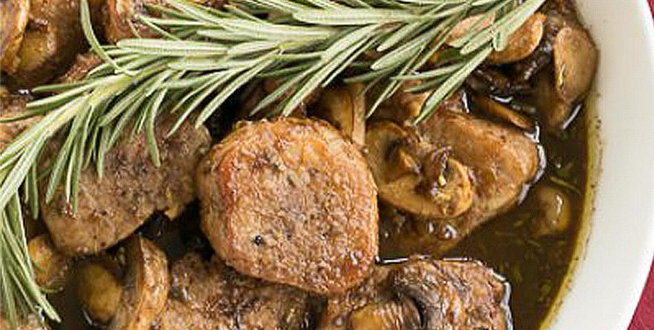 Varkenshaas met balsamico azijn en honing