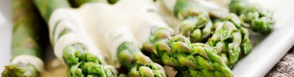 Gegrilde Groene asperges met Zabaglione