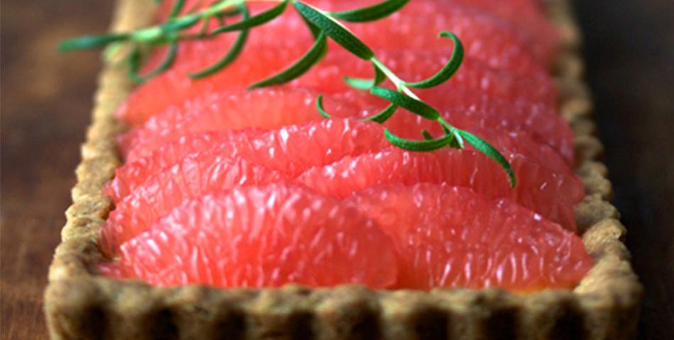 Rozemarijn grapefruit taart