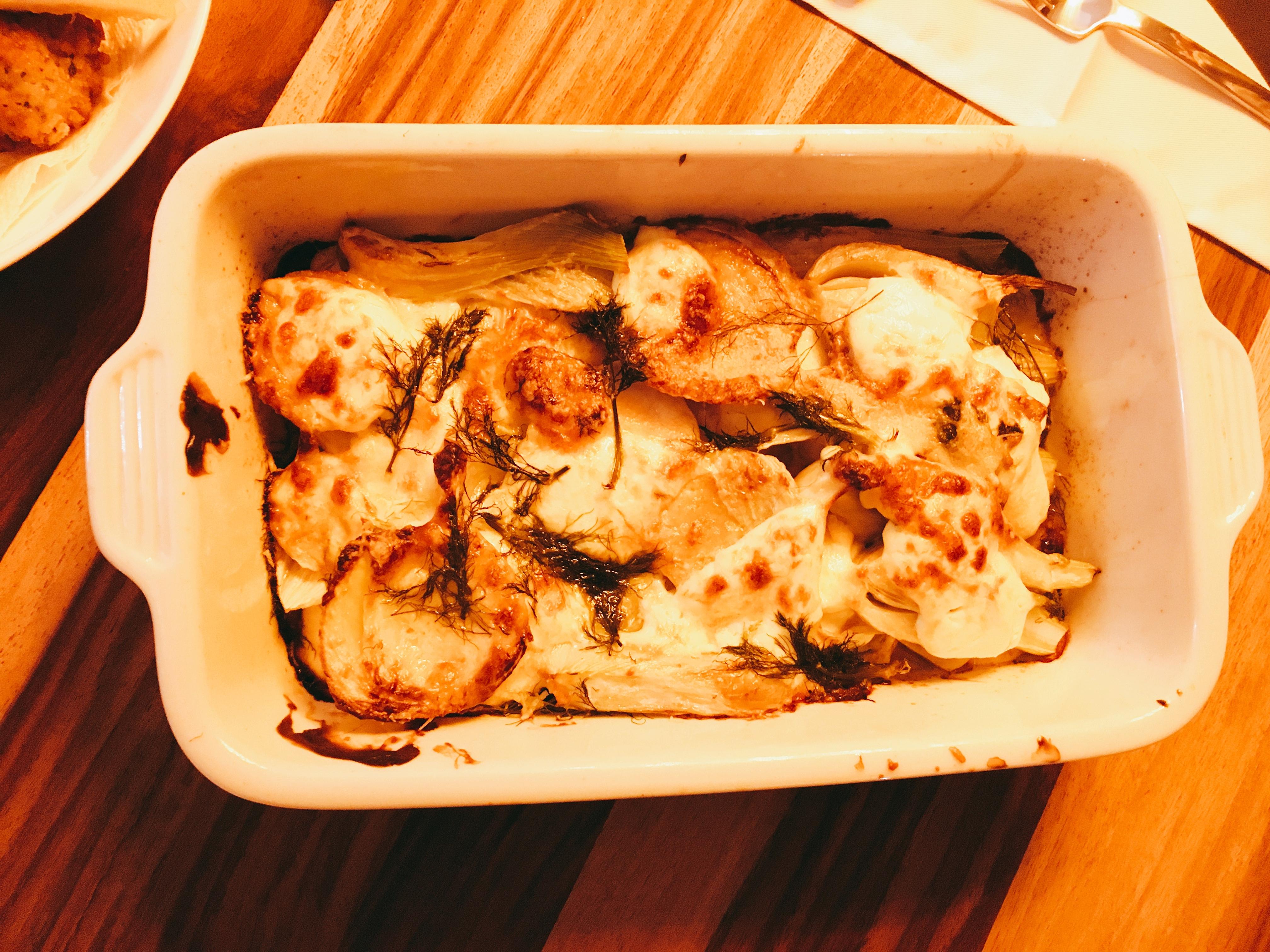 Gebakken venkel met Parmezaanse kaas